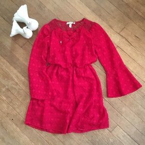 Speechless Red Lace Girl's Size 8 Dress